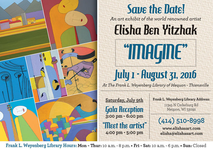 Imagine Art Show Invitation